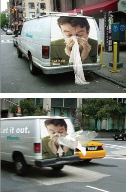 guerrilla marketing en transporte
