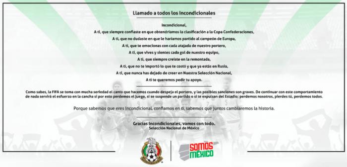 FIFA da advertencia a la Selección mexicana por el grito de Ehhh Puuuto