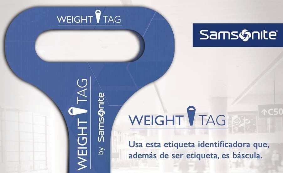 Resultado de imagen para weight tag samsonite