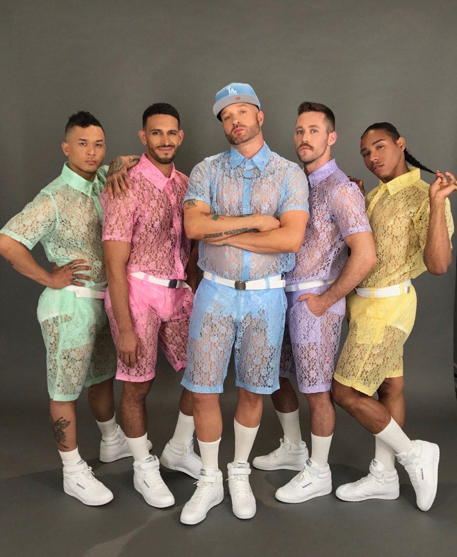 Short y camisa de encaje Lanzan shorts y playeras de encaje para hombres y enloquecen las redes