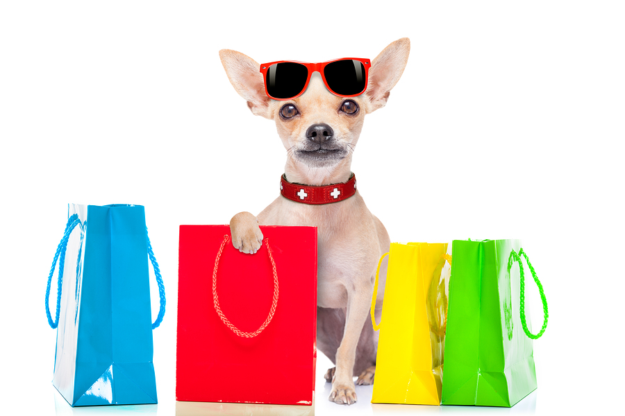 Shopping Dog pet marketing