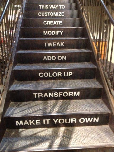 ooh en escaleras
