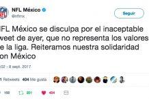 NFL México se disculpa