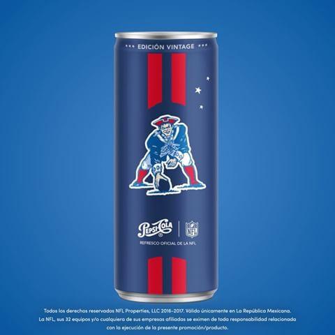 Latas vintage de la NFL por Pepsi