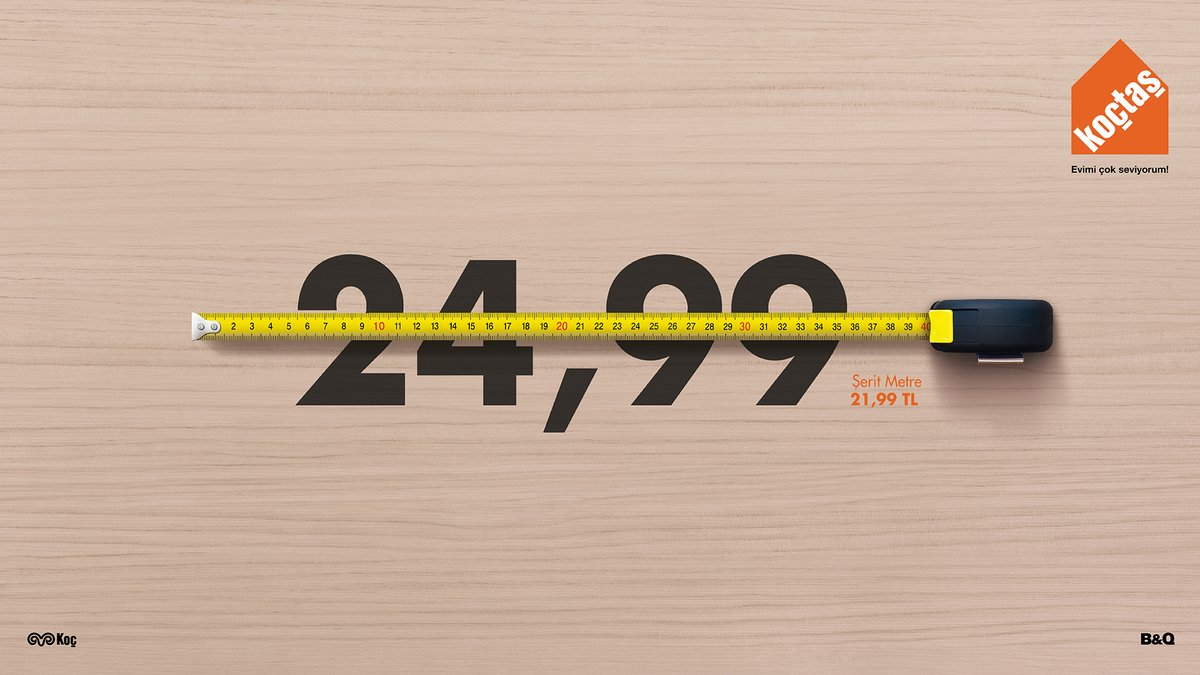 Koctas - Tape Measure - Outdoor - Print