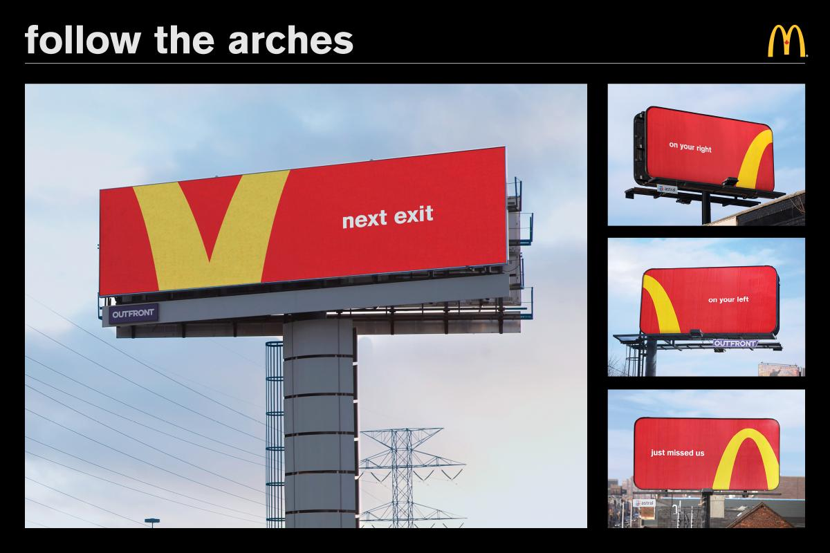 McDonald's - next exit, on your right, on your left, just missed us - outdoor - retail
