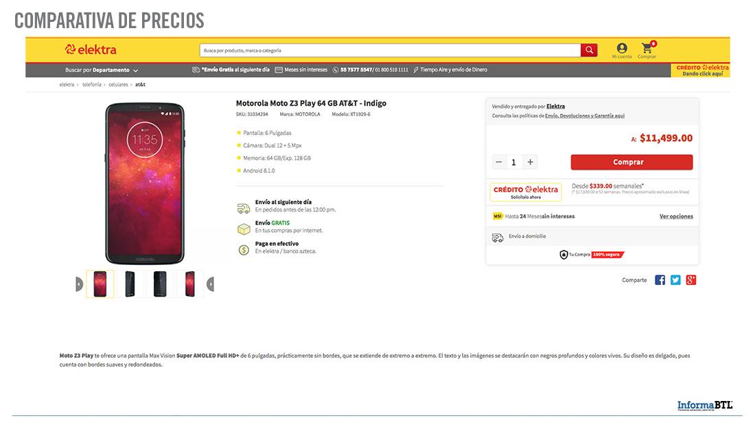 Comparativa de precios de Motorola - Elektra