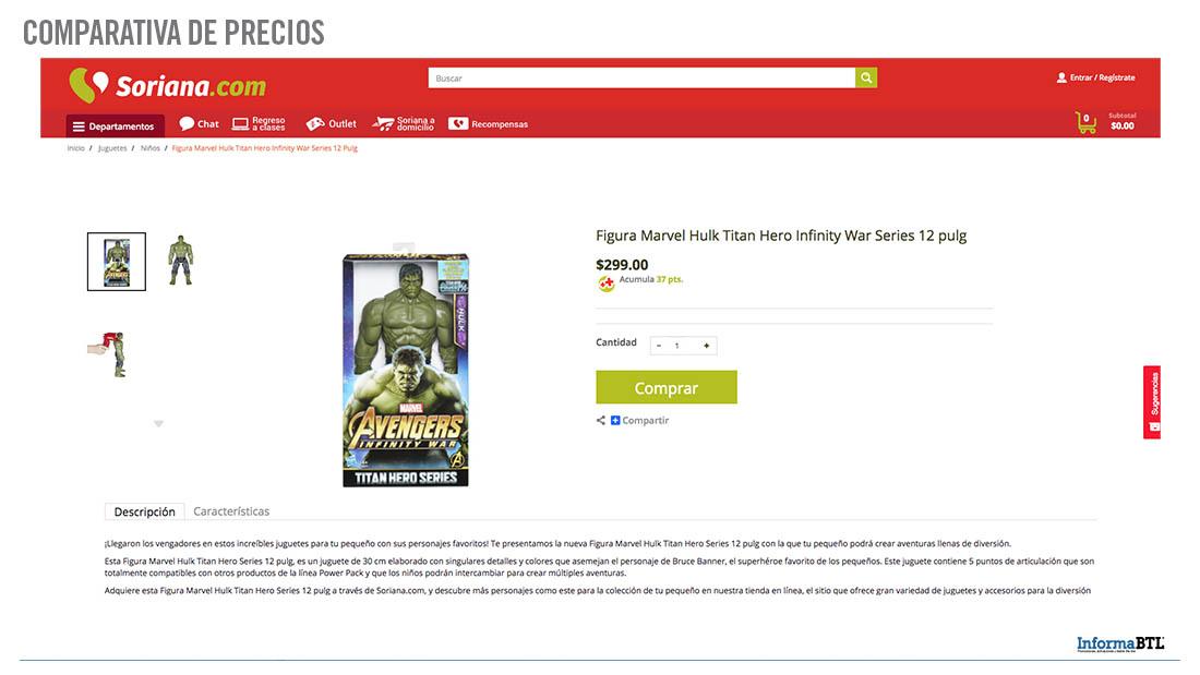 Comparar Precios de Hulk - Soriana