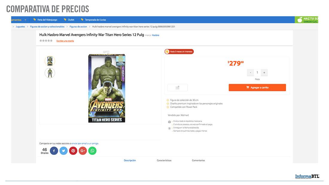 Comparar Precios de Hulk - Walmart