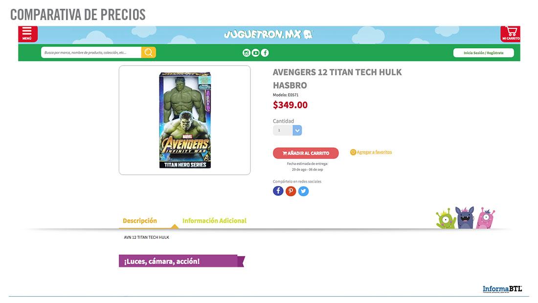 Comparar Precios de Hulk - Juguetron