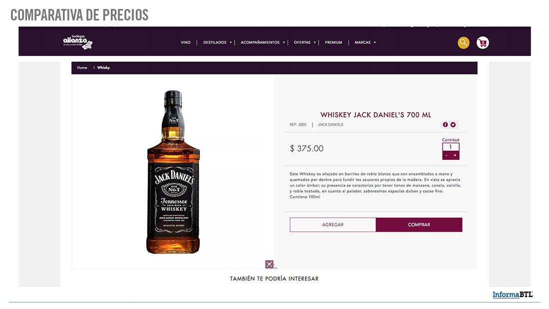 Comparar productos: whiskey - Alianza