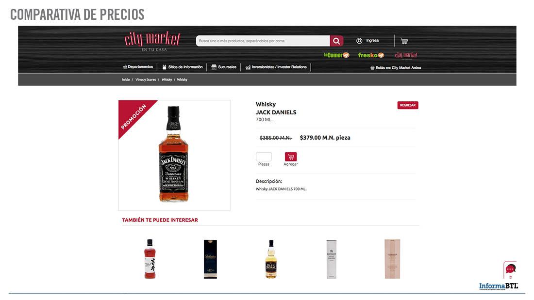 Comparar productos: whiskey - City Market