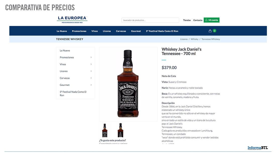 Comparar productos: whiskey - Europea