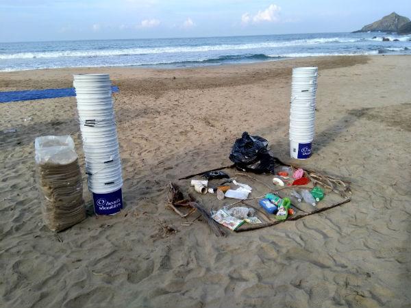 Acción de limpieza de playa