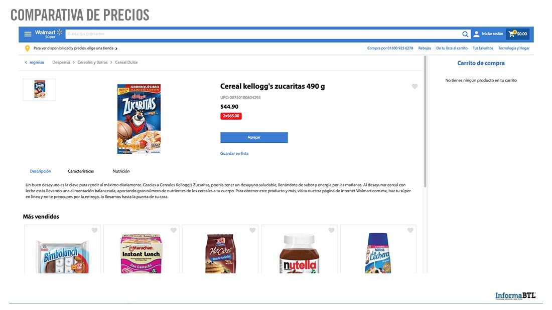 Comparativa de precio - Walmart