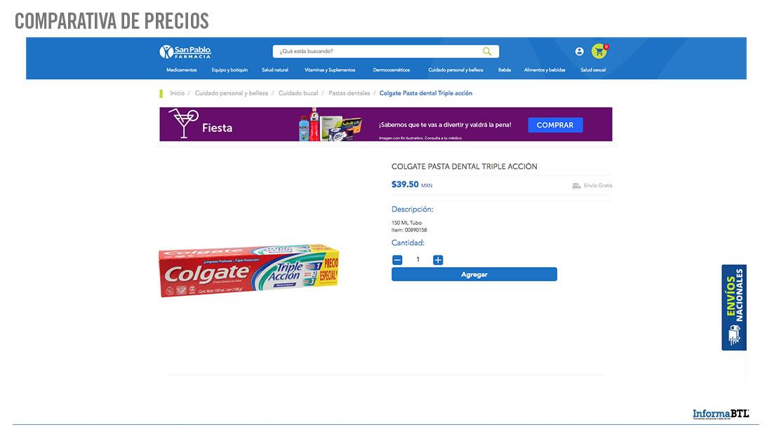 Comparativa de precios -Farmacia San Pablo