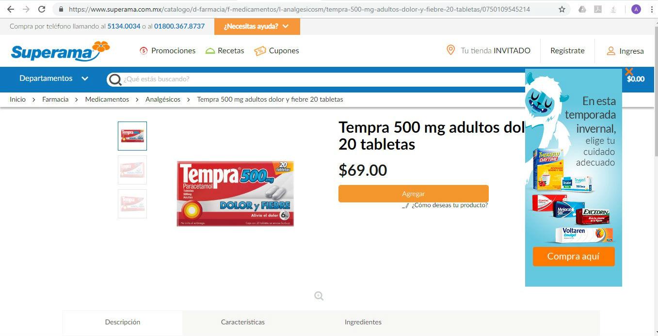 Comparativa de precios - Superama