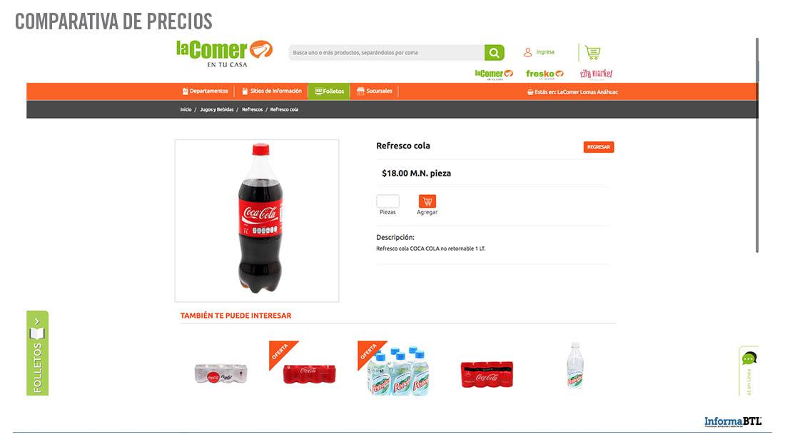 Comparativa de precios - La Comer