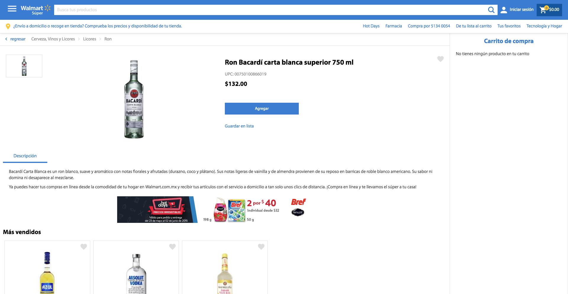 Comparar precios - Walmart