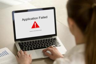 Aplicación falla