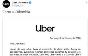 Uber se despide