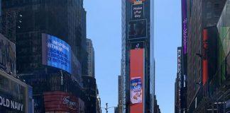 Times Square con sus DOOH pero vacío