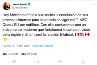 Jesús Seade confirma que México está listo para el T-MEC