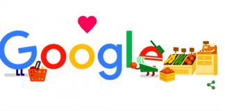Doodle de Google dedicado a trabajadores de supermercados