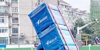 Exoesqueleto para entrega de alimentos en China