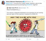 Tuit del director general de la OMS