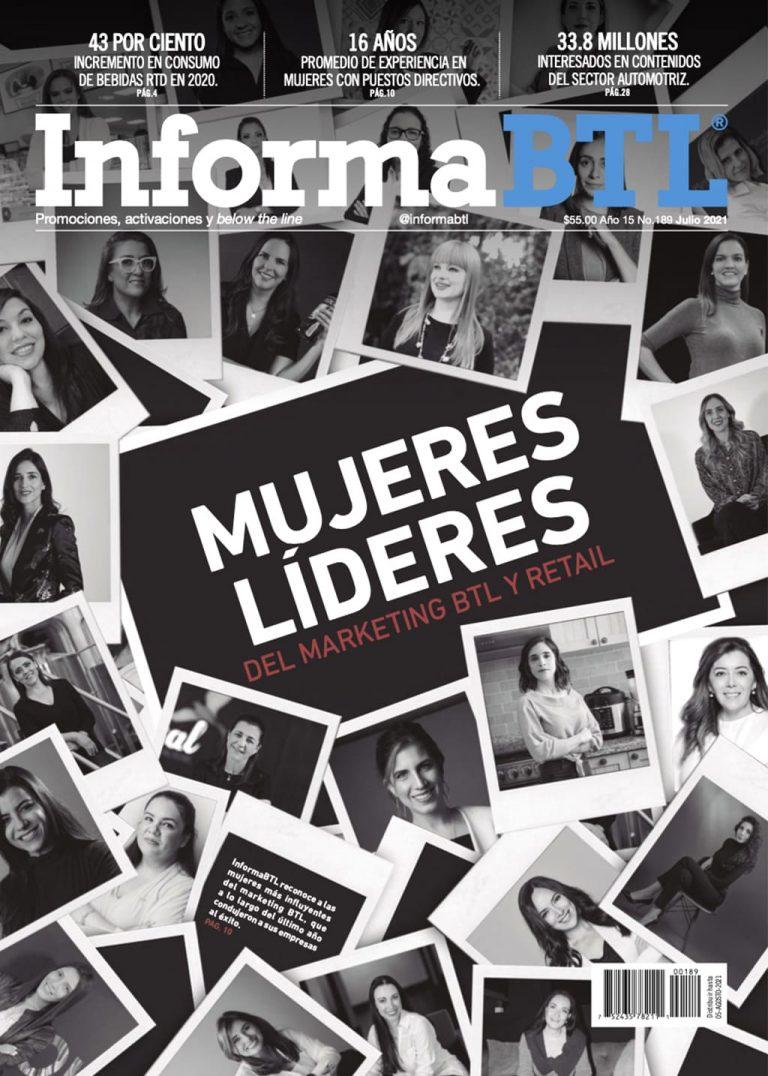 Portada InformaBTL, Julio 2021. Mujeres líderes del Marketing btl y retail